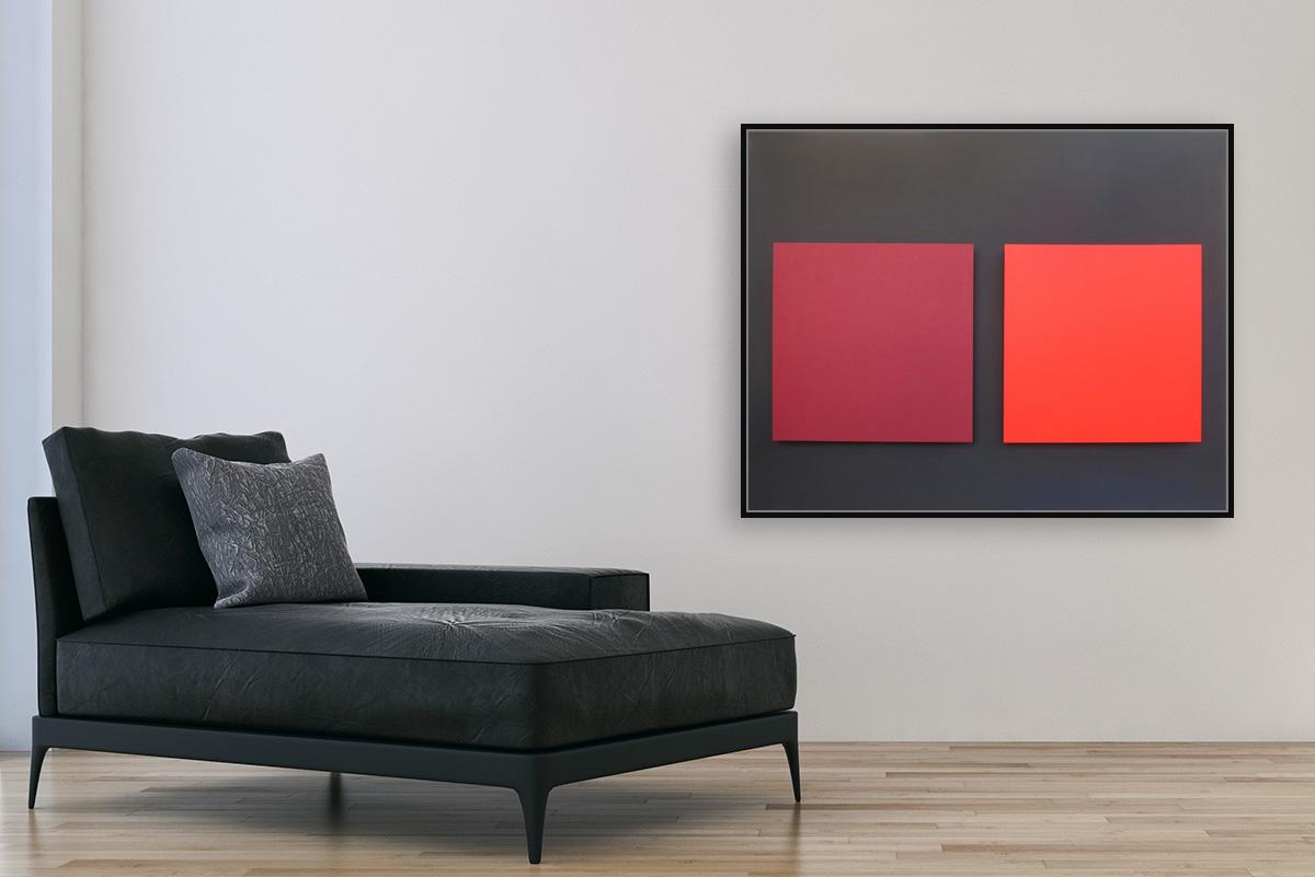 Claude Tousignant-Etude pour double ecran chromatique #3
